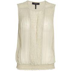 Isabel Marant Dakota detailed silk top ($470) ❤ liked on Polyvore