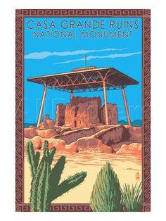 Casa Grande Ruins National Monument - Arizona Posters by Lantern ...