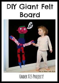 Giant Felt Board from Fun at Home with Kids