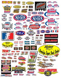 1:18 DRAG RACING CONTINGENCY DECALS FOR DIECAST CARS & DIORAMAS DISPLAYS