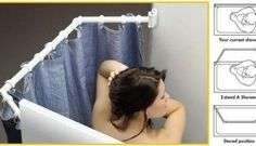 Extend-A-Shower RV Shower Rod. REVIEW: Makes a huge difference for a tiny bathroom