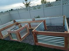 Beautiful custom raised garden bed my husband and I just finished. It turned out… Beautiful custom raised garden bed my husband and I just finished. It turned out perfect! Used redwood and galvanized sheet metal. Measures 4 ft W x 8 ft x 16 ft x 27 in H. Raised Vegetable Gardens, Veg Garden, Garden Types, Vegetable Gardening, Raised Gardens, Veggie Gardens, Hydroponic Gardening, Flower Gardening, Small Gardens