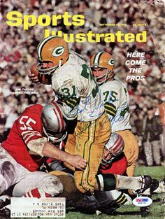 """Jim Taylor Autographed Sports Illustrated Magazine Cover Packers """"Best Wishes"""" PSA/DNA"""