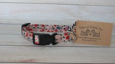 This dog collar is a great dog accessory for your girl pup. The floral print is full of bright colors, great for a girly style. (Size shown is small). My passion and creativity is shown in each product. I love making each dog collar and take great pride in sending off a quality product for you to enjoy with your furry best friend. All Duke and Duchess Pets dog collars are handmade to order just for your pup. For maximum durability and quality all Duke and Duchess Pets dog collars feature…
