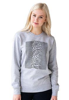 Pulsar Artwork as used by Joy Division on Unknown Pleasures Minimalist Sweatshirt Womens Mens Screen Printed Long Sleeve Jumper Sweater Top