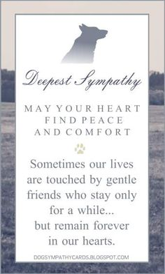 40dc2ba2573e Dog Sympathy Verse - right click to SAVE image and you can email to a friend