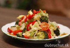 Fotorecept: Brokolicový šalát s ľanovými semienkami Y Recipe, Vegan V, Food Dishes, Broccoli, Cabbage, Salads, Meat, Chicken, Vegetables