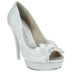 Peep Toe Crysalis Branco #Noivas #Casamento #Sapatos #Love #Shoes #Trends #Style #Fashion