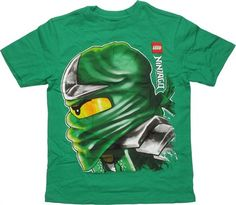 Lego Ninjago Lloyd Profile Green Youth T Shirt The deadly ninja Lloyd Garmadon stands in profile on this highly detailed Lego Ninjago t shirt in youth sizes! The Lego Ninjago Lloyd Profile Green Youth T Shirt is green with a…