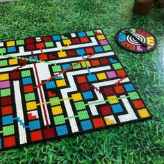 Snakes and Ladders game perler beads by kaapeloss