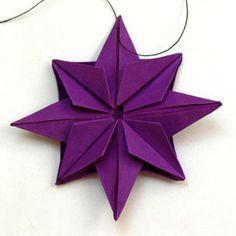 Origami Stern http://www.besserbasteln.de/Origami/Gegenstaende%20falten/stern_1.html