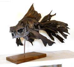 Black moore driftwood sculpture by Tony Fredriksson www.openskywoodart.com