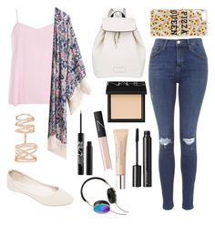 Back to school outfit by merlinfan2004 on Polyvore featuring polyvore, fashion, style, Dorothy Perkins, Topshop, Wet Seal, Marc by Marc Jacobs, Repossi, Frends, NARS Cosmetics, Witchery and Urban Decay