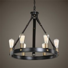 Uttermost Marlow 6 Light Antique Bronze Chandelier $225.00