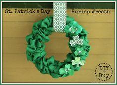 St. Patricks Day Burlap Wreath - DIY or Buy