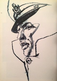 Marlon Brando Sketch - Drawing/illustration art by Bob Peak