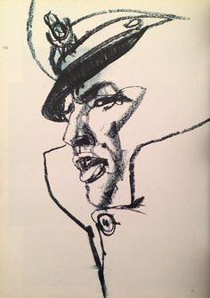 Marlon Brando Sketch - Drawing/illustration art by Bob Peak