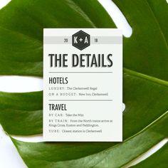 Wedding Information Card | Banner