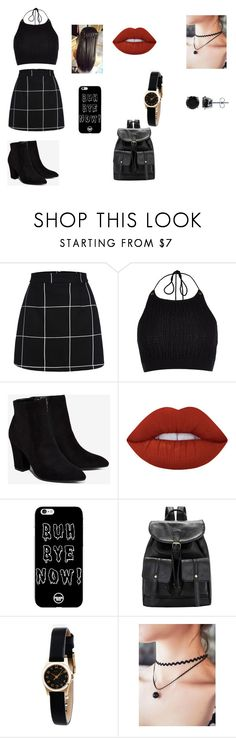 """stylist school 3"" by kassy-almeida on Polyvore featuring moda, River Island, Billini, Lime Crime, Marc by Marc Jacobs e BERRICLE"