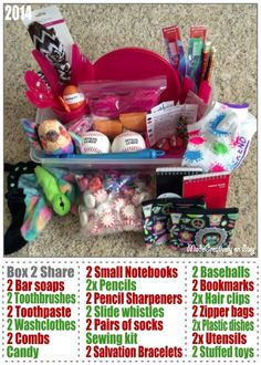 We packed this Operation Christmas Child shoebox for a 10-14 year old boy with 2 of each item ...