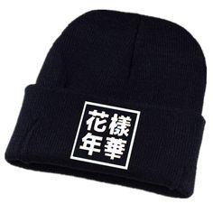 $5.16 (Buy here: https://alitems.com/g/1e8d114494ebda23ff8b16525dc3e8/?i=5&ulp=https%3A%2F%2Fwww.aliexpress.com%2Fitem%2FK-Pop-BTS-Bangtan-Boys-Black-Hat-Kint-Beanie-Winter-Hats-For-Women-Bonnet-Femme-Ski%2F32783150205.html ) K-Pop BTS Bangtan Boys Black Hat Kint Beanie Winter Hats For Women Bonnet Femme Ski Mask Harajuku Korea Fashion Cap Z15 for just $5.16