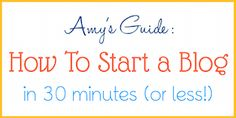 How to Start a Food Blog in Just 30 Minutes (Or Less!)