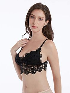 8505ccc13d FCLBY Lace Wirefree Bra for Women with No Padding