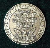 Persian GUlf Veterans National Medal.