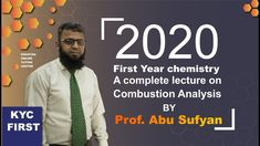 Combustion Analysis | Chemistry | Intermediate Part 1 | Lecture 3 | KYC ...