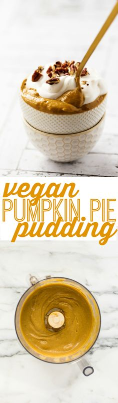 Add 2 scoops of Pumpkin Pie Protein Powder for Protein Pudding. Step up your pumpkin pie game by swirling pumpkin purée into a banana-and-avocado mix. Brownie Desserts, Mini Desserts, Vegan Pumpkin Pie, Pumpkin Recipes, Fall Recipes, Vegan Pie, Pumpkin Pudding, Vegan Cheesecake, Pie Recipes