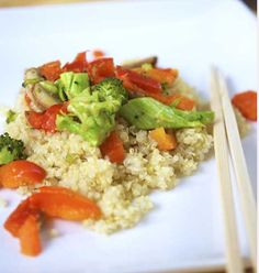 Cooking Pinterest: Clean Eating Vegetable Quinoa Stir Fry Recipe