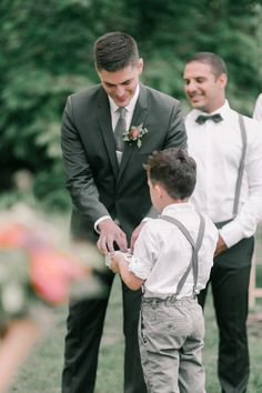 Adorable ring bearer moment: http://www.stylemepretty.com/canada-weddings/quebec/montreal/2016/07/20/when-a-wedding-photographer-gets-married-its-all-about-the-details/ | Photography: Richelle Hunter Photography - http://www.richellehunter.com/