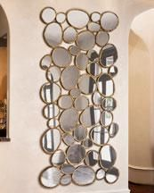 Gold Framed Circles Mirror
