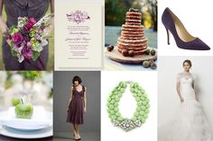 Love the plum & green combo.