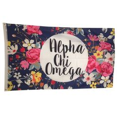 Alpha Chi Omega Sorority Floral Flag - Brothers and Sisters' Greek Store