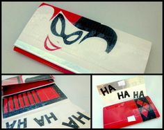 Harley Quinn Themed 100 All Duct Tape Clutch Wallet by lahanap - LOVE this.