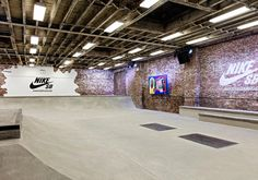 Nike SB Garage is an indoor skatepark to allow people to skate throughout the winter months.
