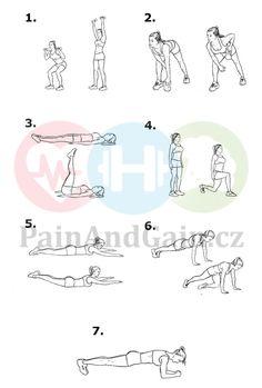 ▷ Příklad cvičebního plánu na hubnutí doma 2020   PainAndGain.cz Exercise, Map, Workout, Words, Sport, Lifestyle, Ejercicio, Deporte, Excercise