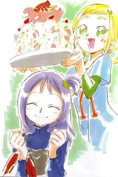 Ojamajo Doremi 16 ~ Umakoshi Yoshihiko Illustrations - Onpu & Momoko