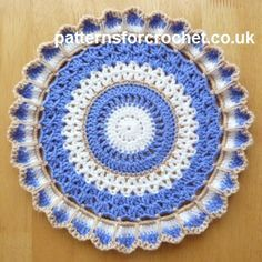 Free crochet pattern for round doily http://patternsforcrochet.co.uk/round-doily-usa.html #patternsforcrochet