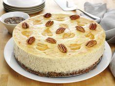 Pumpkin Pecan Swirl Cheesecake