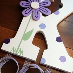 Little Elephant Company: 9 inch Wall Letter Initial Hair Barrette Holders