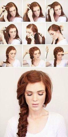 treccia bellissima e i capelli stupendi