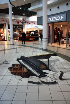 Apsys shopping malls in and throughout Katowice - Szczecin - Warsaw - Wroclaw, Poland by Manfred Stader German 3D street artist