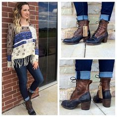 Dress to Impress with this stunning #laceup #anklebootie @bedstu !! We are loving the rich contrasting colors and rustic appeal that will pair well with your denim jeans! #love #fun #fashion #boots #BedStu #fashionblogger #applevalley #shopthislook #shopmainstream #Style #statement #prefallfashion