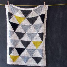 modern knit baby blanket pattern - Google Search