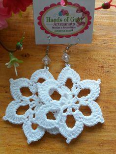 Crochet Earrings Pattern, Crochet Snowflake Pattern, Crochet Jewelry Patterns, Crochet Hair Accessories, Crochet Square Patterns, Crochet Snowflakes, Crochet Bracelet, Crochet Designs, Crochet Christmas Ornaments