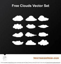 Check out my new free Cloud Vector Set - these cloud vectors could be used as a base for icons or so many projects. Enjoy!