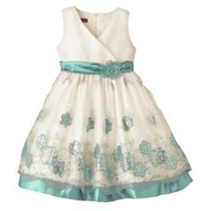Princess Faith Floral Embroidered Dress - Girls 7-16