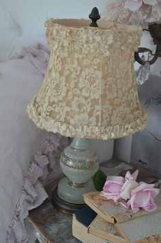 When shopping for a lamp for your house, your choices are nearly endless. Get the perfect living room lamp, bedroom lamp, table lamp or any other style for your selected place. Shabby Chic Lighting, Shabby Chic Lamps, Simply Shabby Chic, Shabby Chic Bedrooms, Shabby Chic Cottage, Cottage Style, Romantic Bedrooms, French Cottage, Small Bedrooms